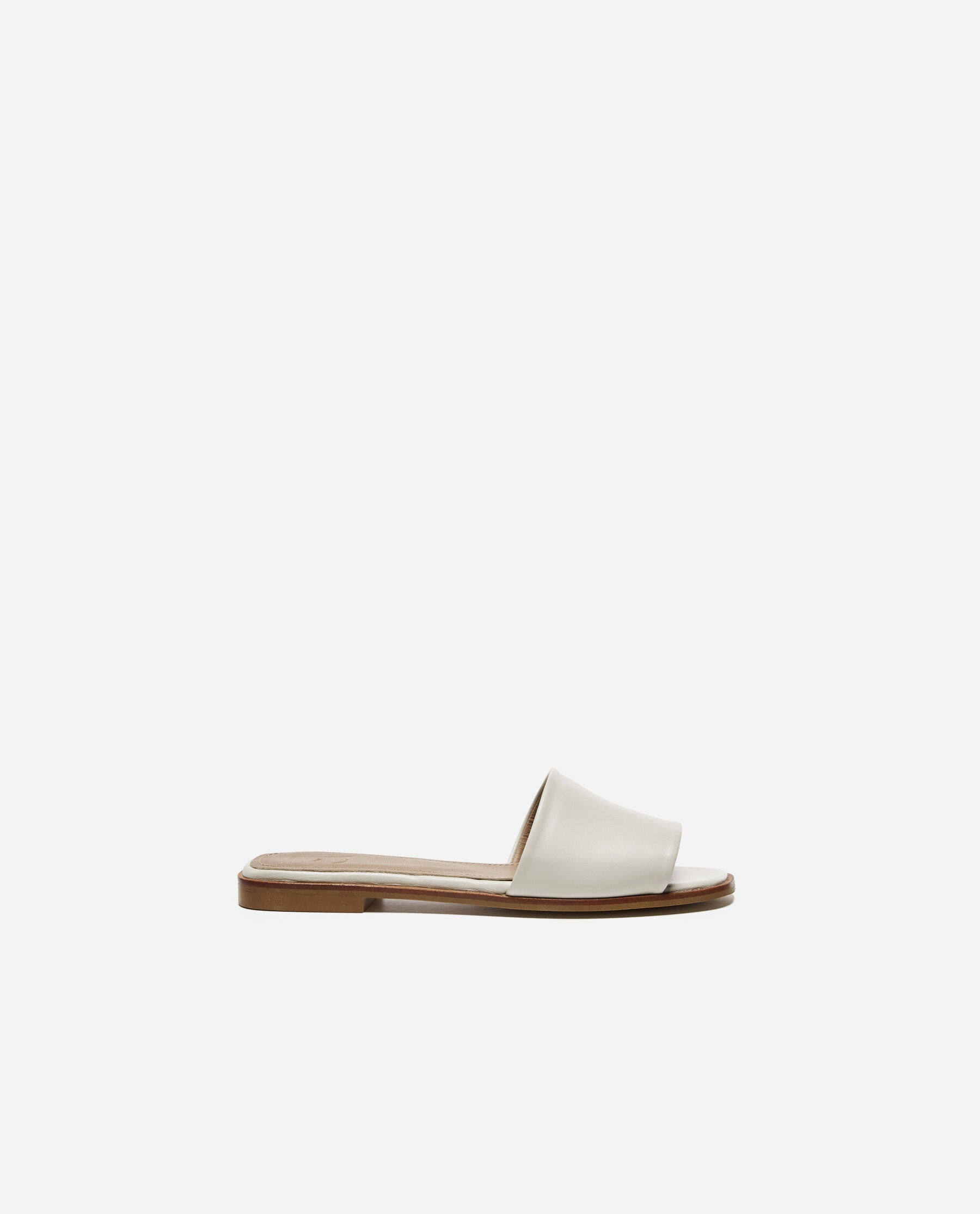 Mouna Leather White