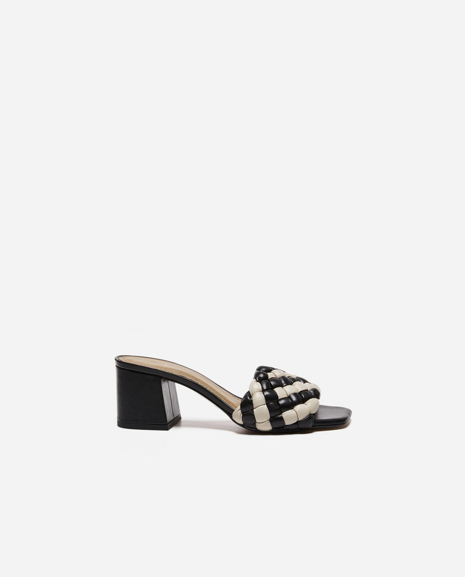 Odessa Leather Black/White
