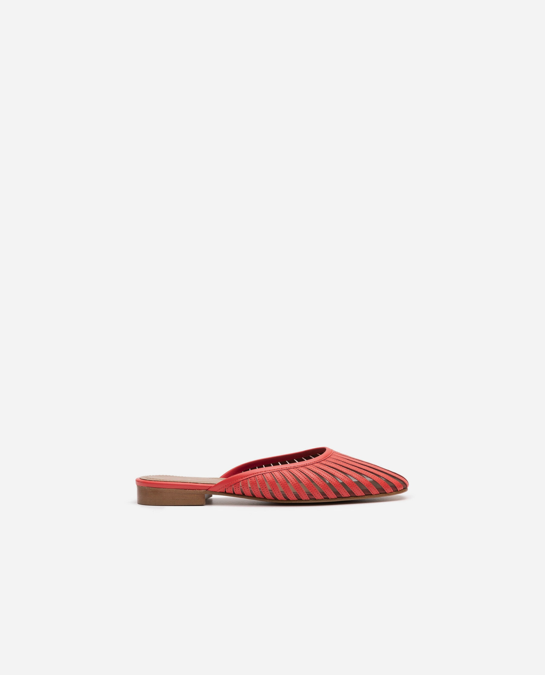Millie Leather Coral Red