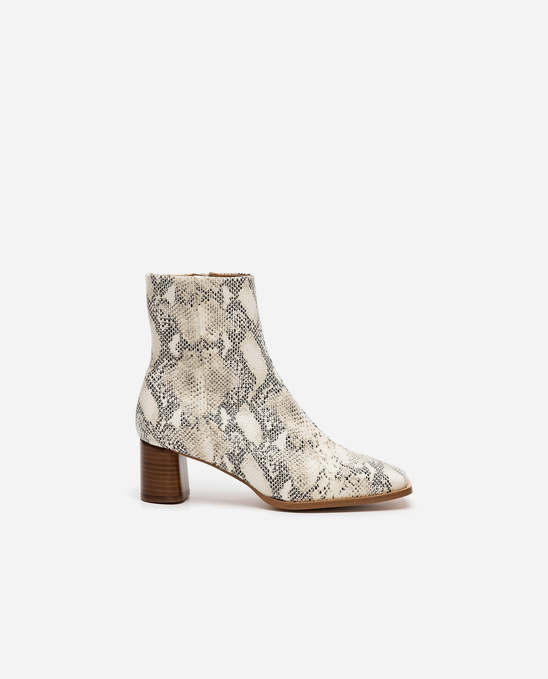 Maddie Leather Snake Print