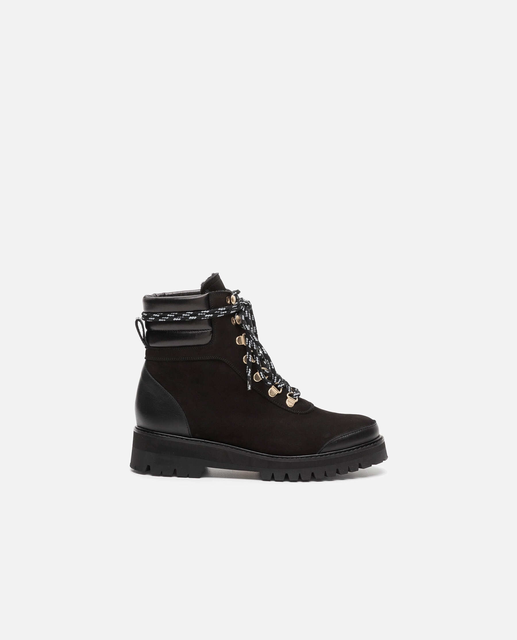 Solveig Nubuck / Leather Black