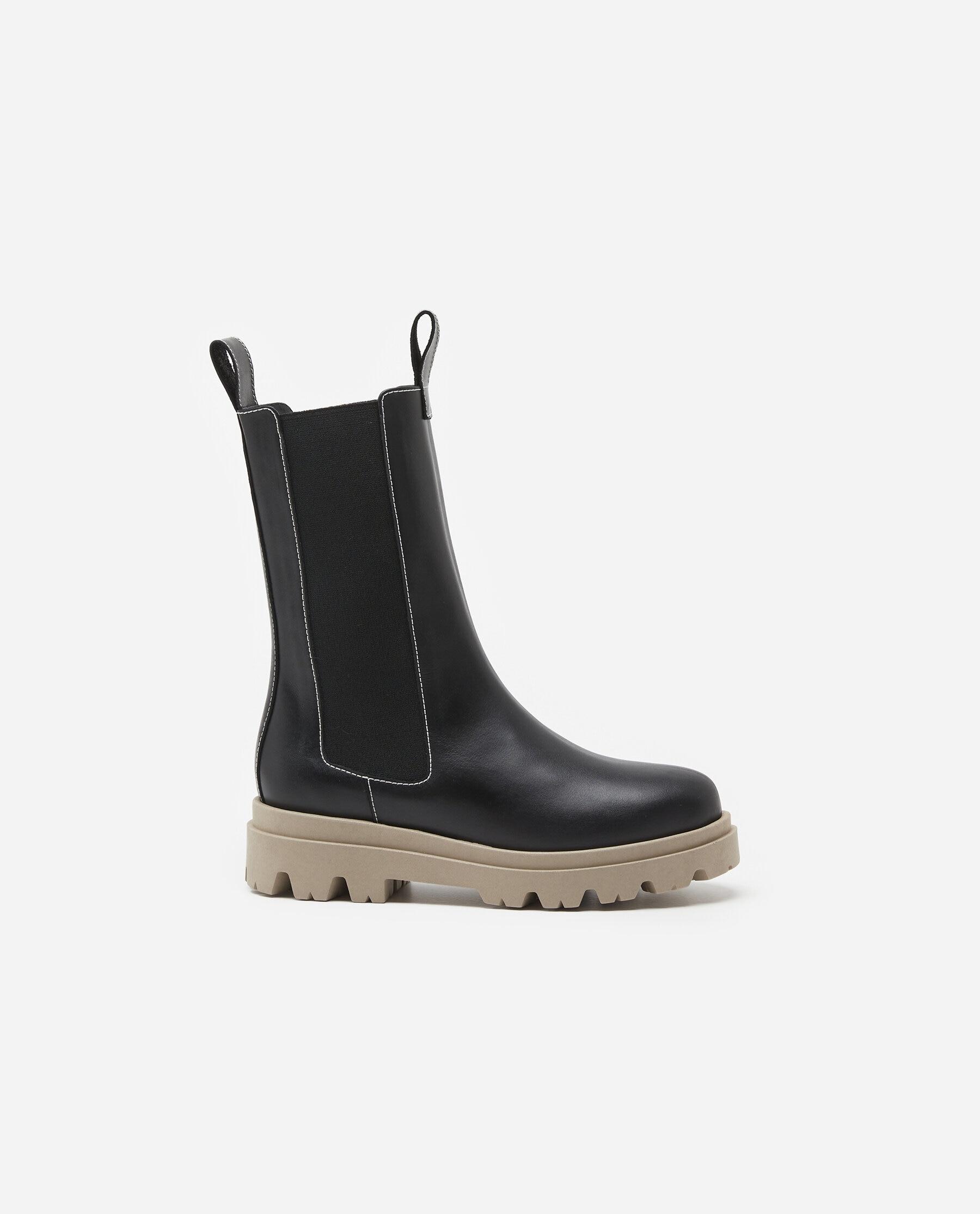 Lia Contrast Leather Black