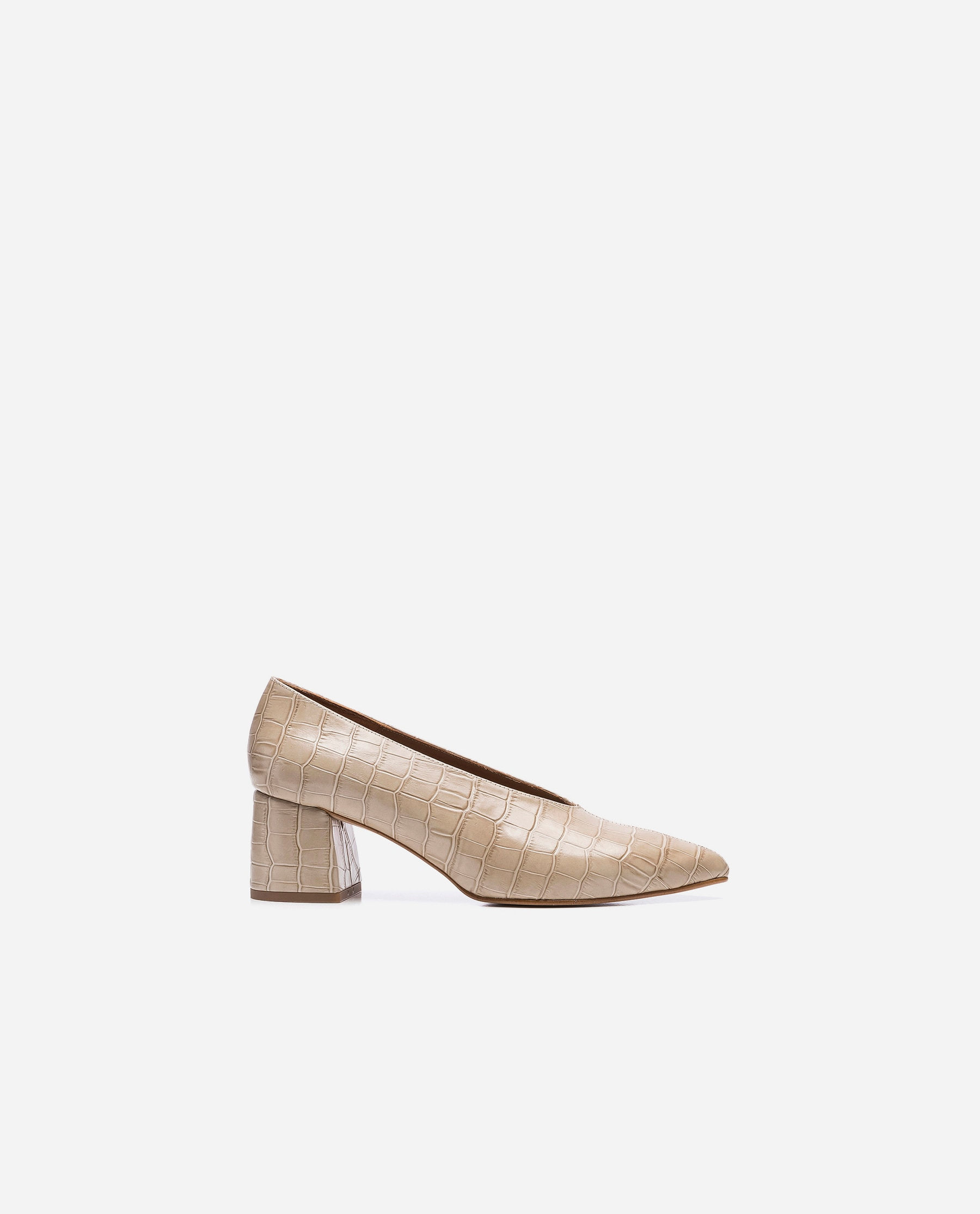 Andie Croco Leather Sand