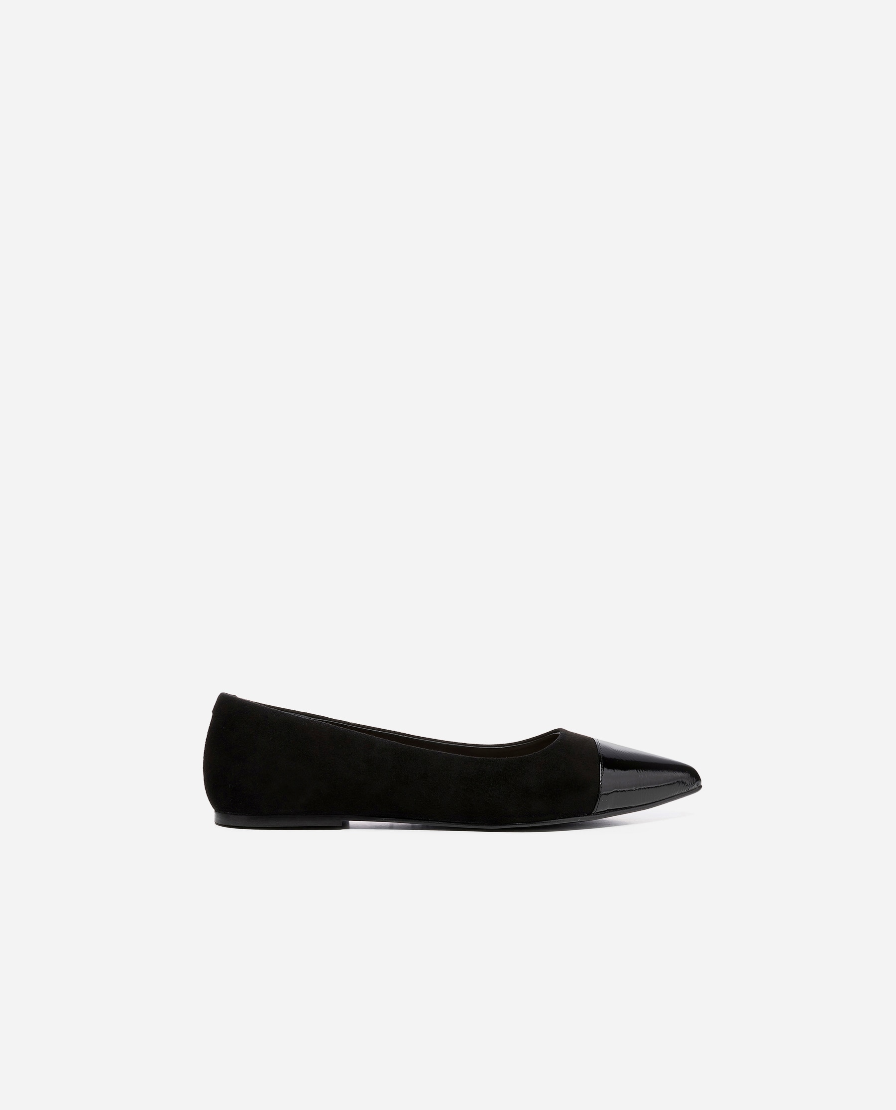 Italia Suede | Patent Leather Black